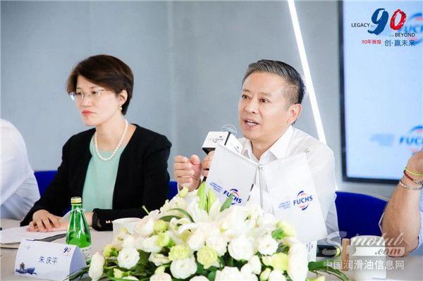 福斯油品集团管理委员会成员、福斯中国首席执行官朱庆平先生